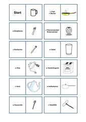 Küchengegenstände Zuordnung (Deutsch)