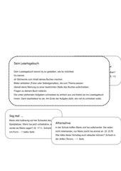 Lesetagebuch-Aufgaben zum Buch
