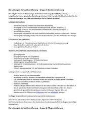 Leistungen der Sozialversicherung - Gruppenarbeit