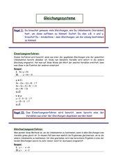 Lösungsverfahren für Gleichungssysteme
