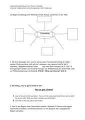 Fotostory Englischunterricht (Friendship)