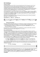 Die Moll- und Durdreiklänge