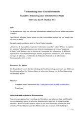 UR-Entwurf: Die Stadt im Mittelalter