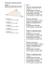 Klapptest-Generator: Berechnungen an allgemeinen Dreiecken