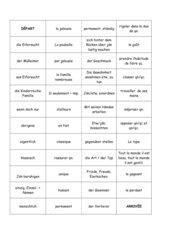 Dominos vocabulaire