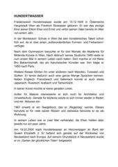 Hundertwasser Biografie und Lückentext