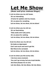Let Me Show - Song - Music, lyrics and chords