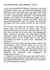 Ernst Moritz Arndt: Über Volkshass