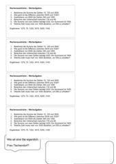Rechenausdrücke  - Wortaufgaben