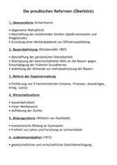 Die preußischen Reformen