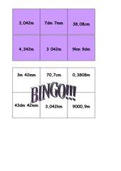 Bingo Längenmaße mit Dezimalstellen