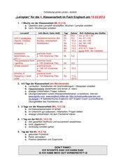 Vorbereitung auf Klassenarbeiten - am konkreten Bsp. E G21 A1 + KV