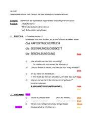 Übung mit dem Wörterbuch HS Bayern