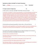 Textarbeit zur Lektüre