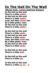 In The Hall On The Wall - lyrics & chords- cool and funny song