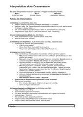 Interpretation einer Dramenszene, Aufbau und Beispiel, Frisch Andorra
