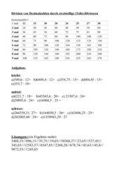 Dezimalzahlen durch zweistellige (Teiler)Divisoren