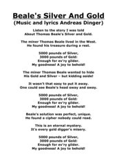 Beale's Silver And Gold lyrics of the song