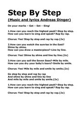 Step By Step - lyrics and chords