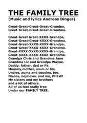 The Family Tree - lyrics of the song