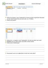 Autovervollständigen mit Excel