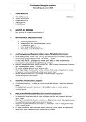 Das Bewerbungsschreiben (Schreibhilfen zum Inhalt)