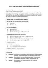 Tipps zum Verfassen einer Fantasieerzählung