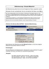 Arbeitsblatt Mittestrich - Textverarbeitung