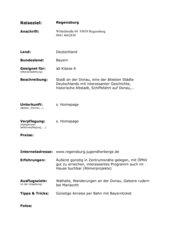 Reisevorschlag Regensburg