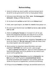 Buchvorstellung Tipps / Anleitung