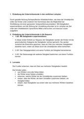 Satzglieder 3. Klasse