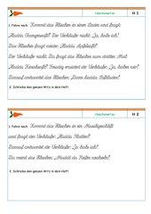 Schönschreibkartei: Häschenwitze