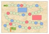 Blanko-Spielplan für Würfelspiele