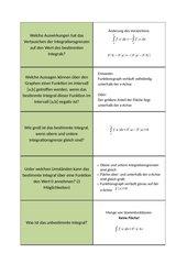 Lernkartei Integralrechnung (Übung)