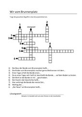 Wir vom Brunnenplatz: Kreuzworträtsel