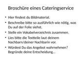Broschüre eines Cateringservice