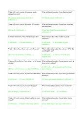 Fragekärtchen zum Conditional I