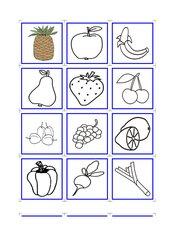 Memo-Spiel / Zuordnungsspiel *Obst und Gemüse*