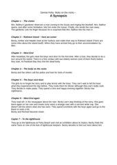 Synopsis / Zusammenfassung zu Body on the Rocks