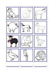 Memo-Spiel / Zuordnungsspiel: Tiere