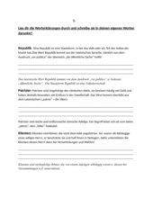 Partnerarbeit: Römer Begriffserklärungen