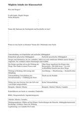 Klassenarbeit 7 Klasse Sucht/Abhängigkeit