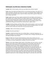 Rollenspiel: Am Hof einer römischen Familie