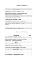 Checkliste zur Beurteilung einer Werkstattmappe