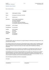 Protokoll - Unterrichtsentwurf mit Arbeitsmaterialien