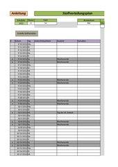 Automatischer Excel-Stoffverteilungsplan mit Makros