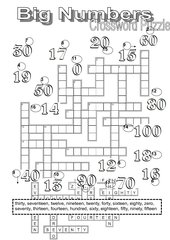 Crossword Puzzle Big Numbers