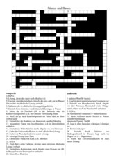 Kreuzworträtsel zu Säuren und Basen