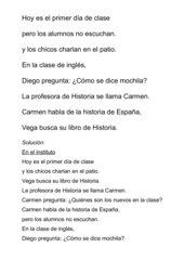 Briefumschlagdiktat zu Encuentros 1 Edición 3000, Unidad 1B