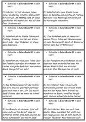 Minitexte zum Abschreiben - Thema: Volksfest